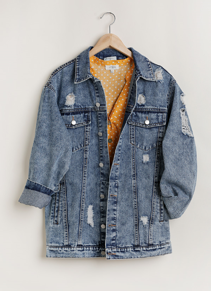PLUS/REG Denim For Days Jacket-Indigo