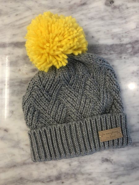 Fun and Fashionable Beanie Hat - Gray