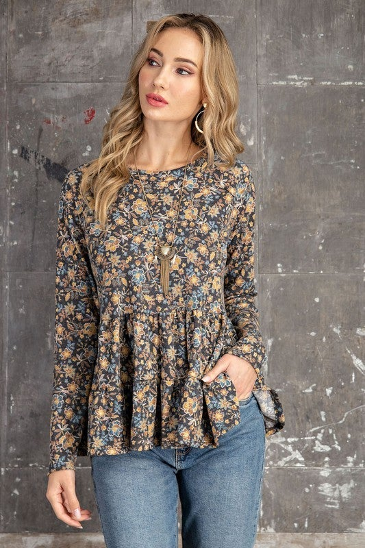 Frills and Flowers Babydoll Top