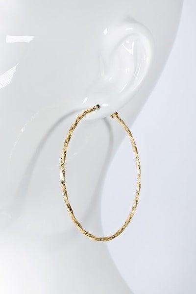 Twisted Beauty Earrings - Gold