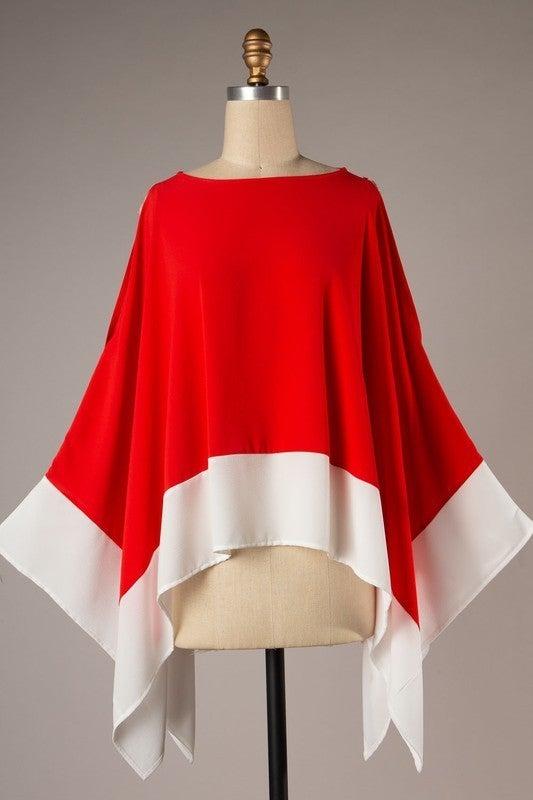 Secret Romance Kimono Top - Red