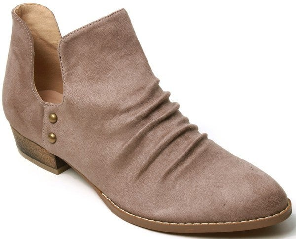 Walk This Way Ankle Boots - Taupe