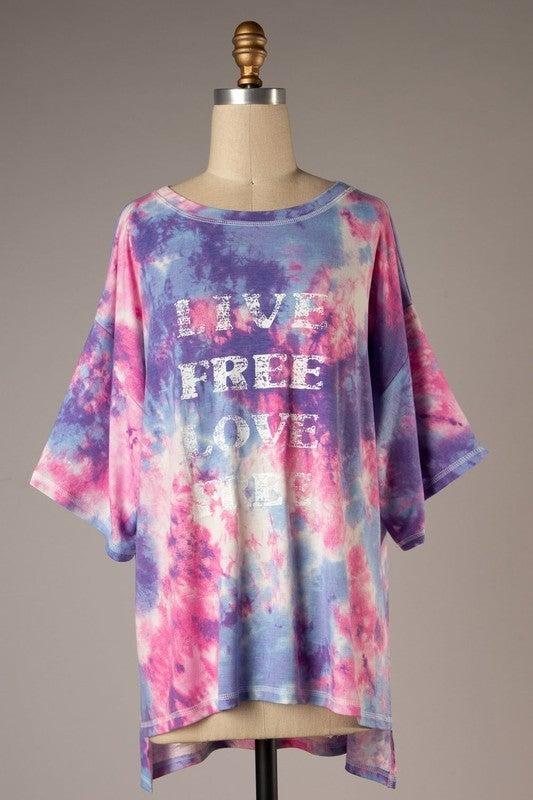 Live Free Love Free Top