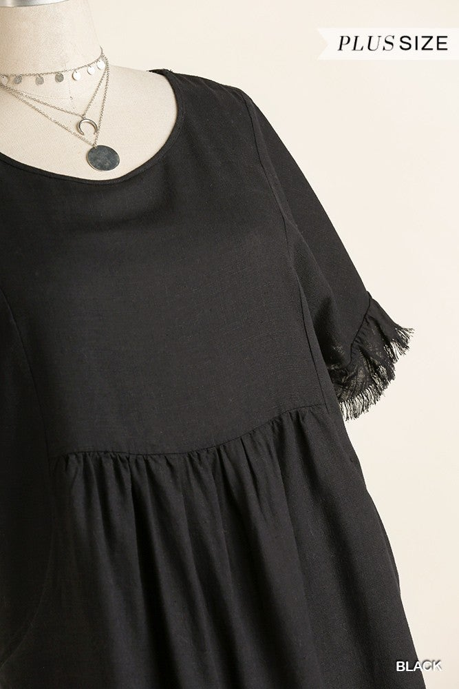 On The Edge Frayed Dress