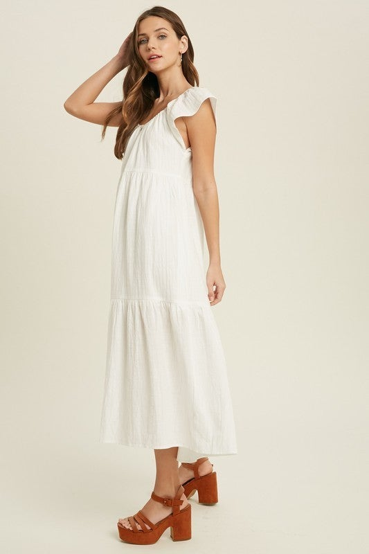 Thinking About You Dress - Off White