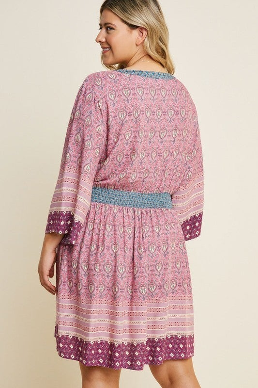 Perfect In Paisley A-Line Dress-Purple