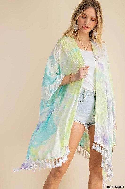Beautiful Wonders Kimono - Blue