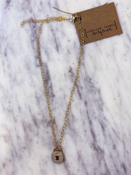 Jennifer Thames Lock Necklace