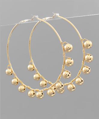 Talking In Circles Earrings - Gold