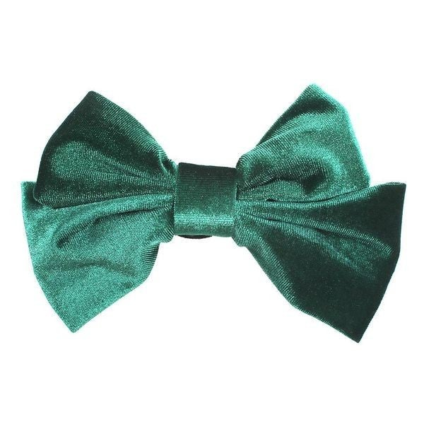Velvet Love Hair Bow - Green