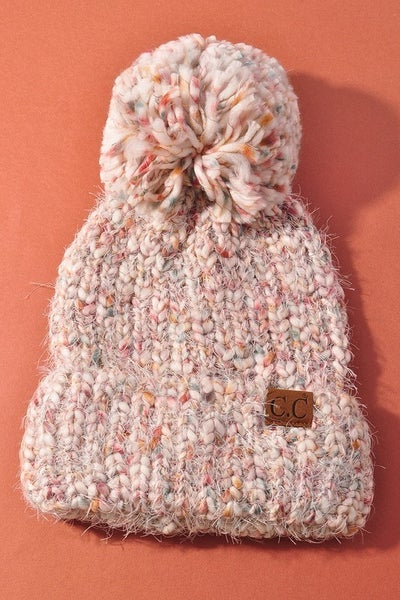 Perfect Pom Knitted Beanie - Ivory