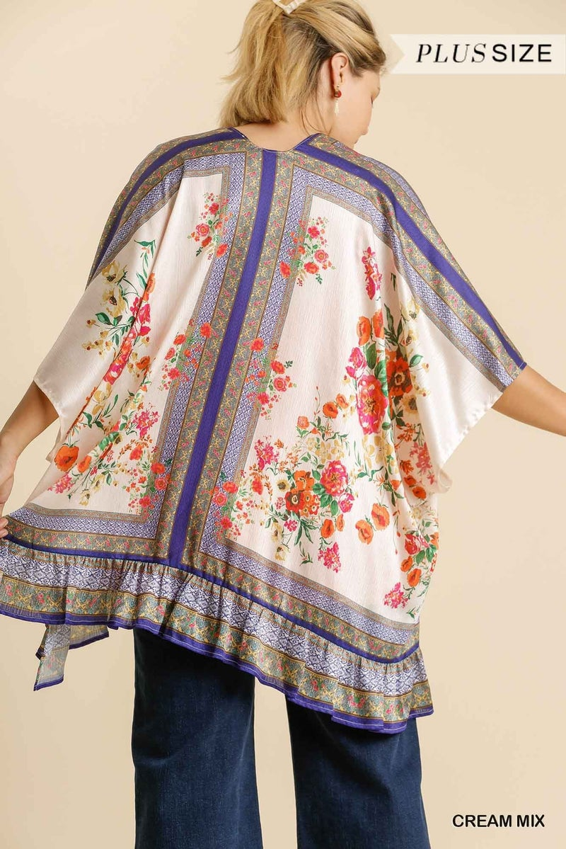 Floral Vibes Kimono - Cream Mix