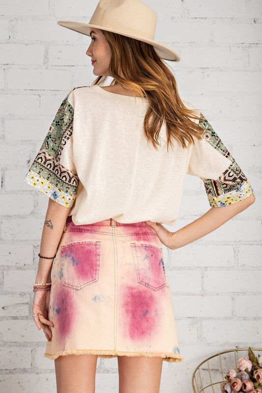 All Mixed Up Top - Ivory