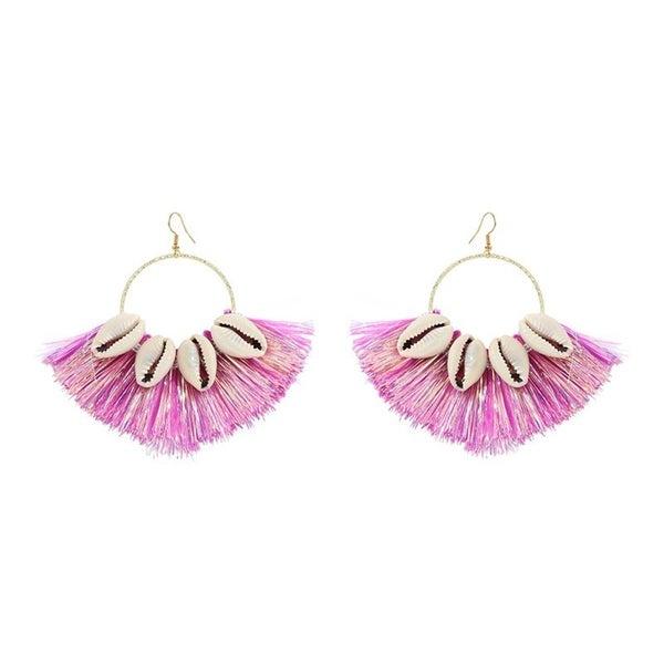 Shell Be Your Biggest Fan Earrings - Pink