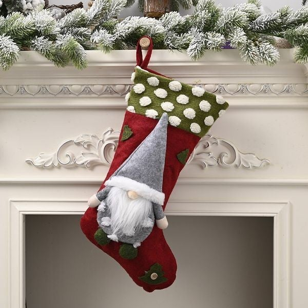 Gnome Stocking - Red