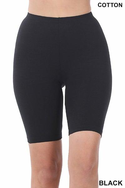 PLUS/REG Made For You Biker Shorts - Black