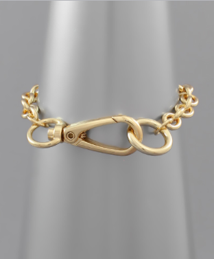 Oh So Pretty Lobster Clasp Bracelet - Gold