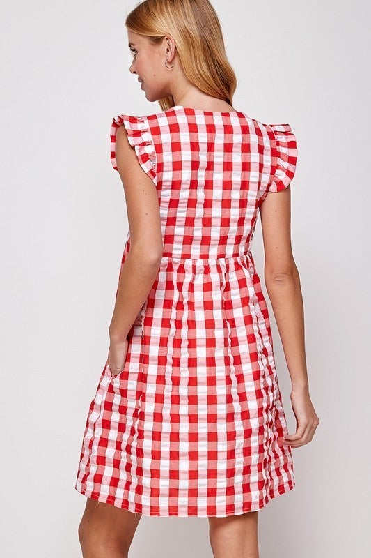 Picnic At The Park Dress - Red