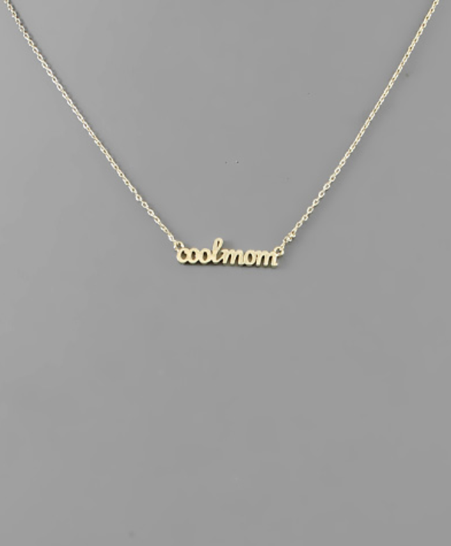 Cool Mom Necklace - Gold