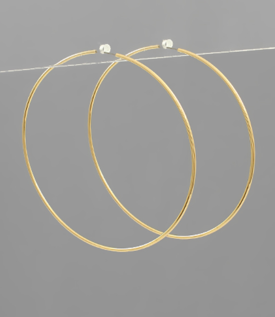 Hoopily Ever After Earrings - Gold