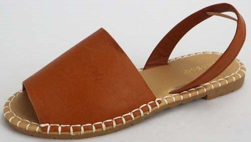 Walking in Style Sandals - Tan Burnish