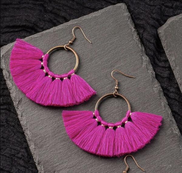 Find The Sun Earrings - Pink
