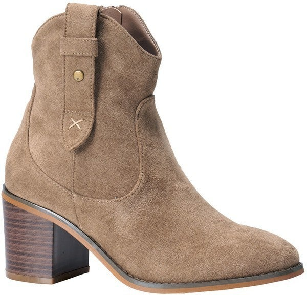 Western Weekend Booties - Taupe