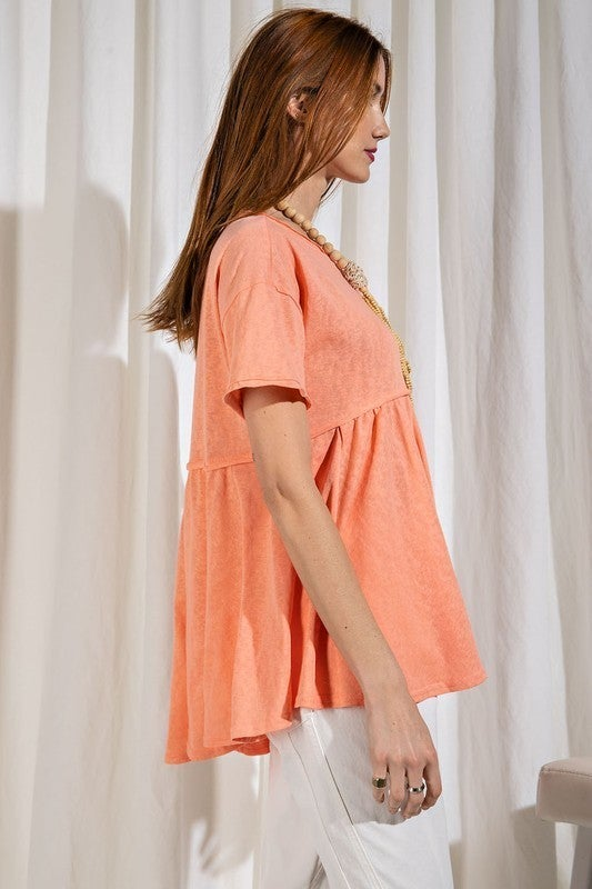 Forget Me Not Top - Coral