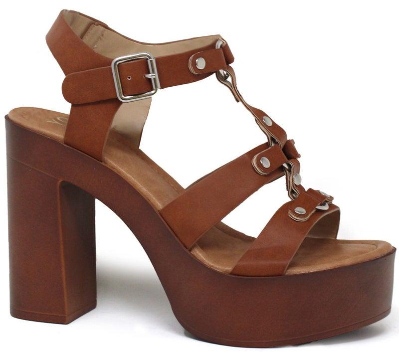 Flash Forward Chunky Heel Sandal - Rust