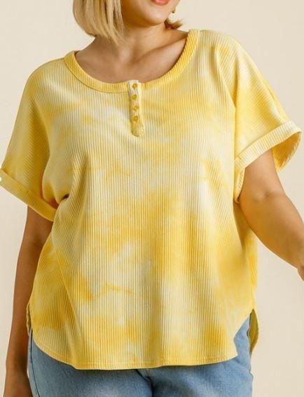 All I Wanted Tie Dye Top-Lemon