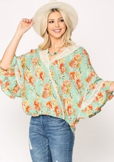 Feminine And Floral Top