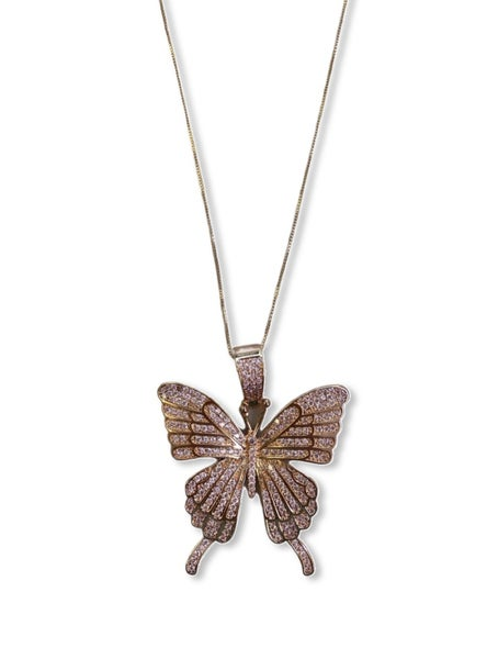 Beautiful Wings Necklace - Rose Gold