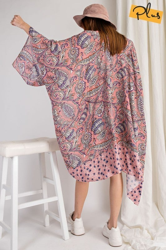 For The Win Kimono - Mauve