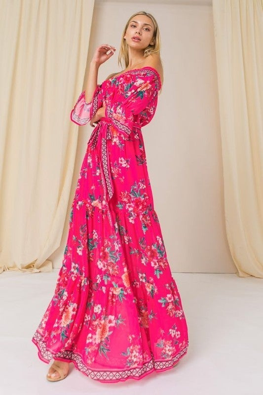 Come My Way Dress - Pink