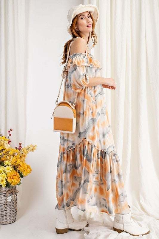 For The Moment Maxi Dress - Coral
