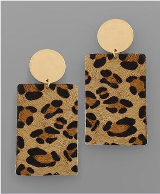 On the Hunt Earrings - Leopard