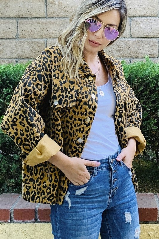 Been Here Before Leopard Shirt Jacket