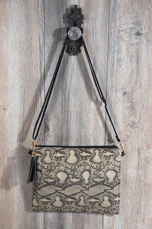 Wild Ways Crossbody Clutch Bag - Snake