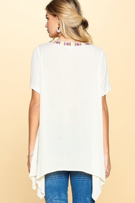 In Full Bloom Top - Off White