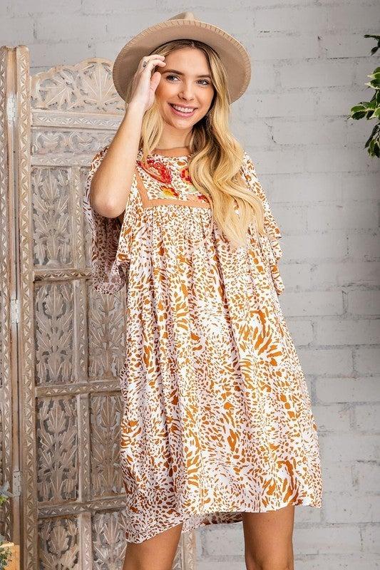 Feeling The Romance Dress - Burnt Orange