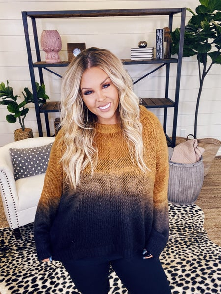 In A Blink Dip Dyed Ombre Sweater