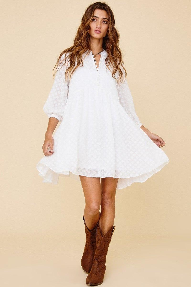 Precious Moments Dress - White