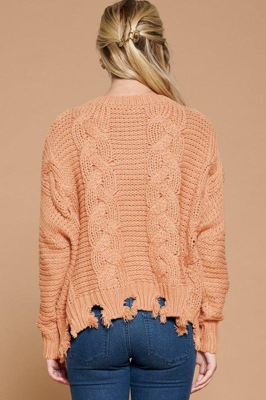 Living On the Edge Sweater - Mauve