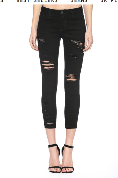 Bare A Little Distressed Skinny Jeans