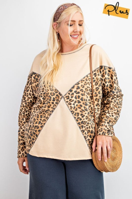 Lovely Leopard Blocks Top