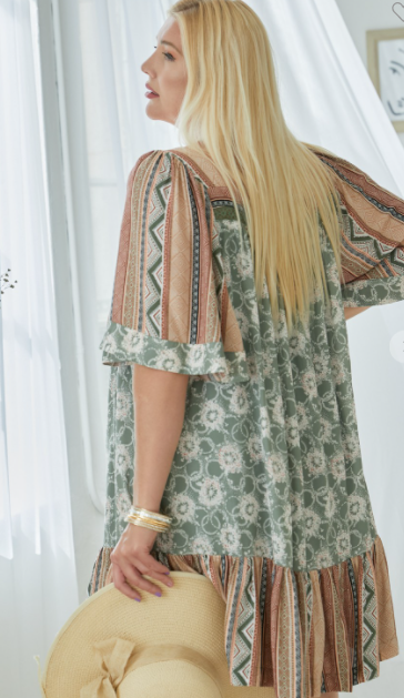 The Way Of Love Dress - Olive