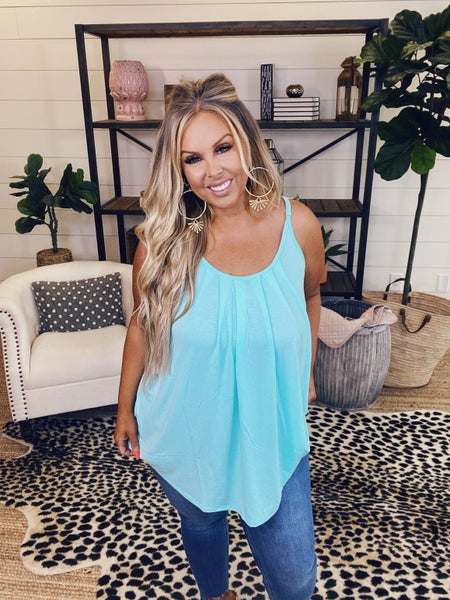 Simply Sweet Cami Top -  Blue Mint