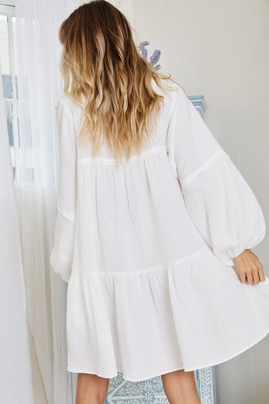 Sweet Summer Nights Dress - White