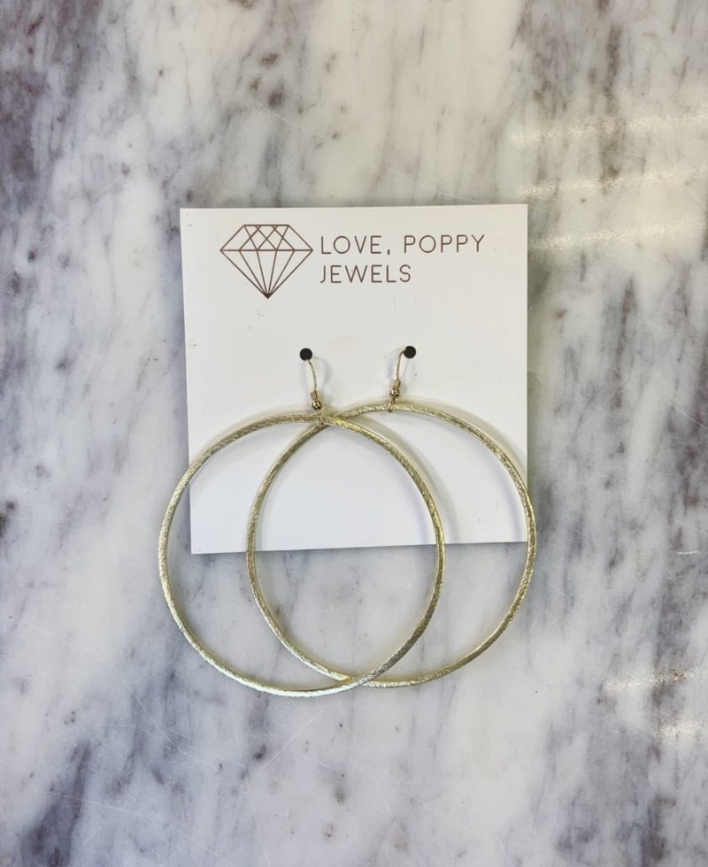 Love, Poppy Large Forward Facing Hoops