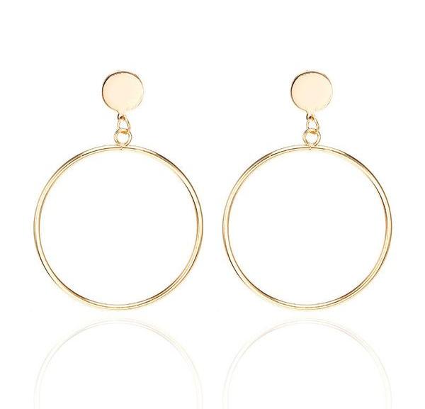 Fashion Simple Circle Earrings